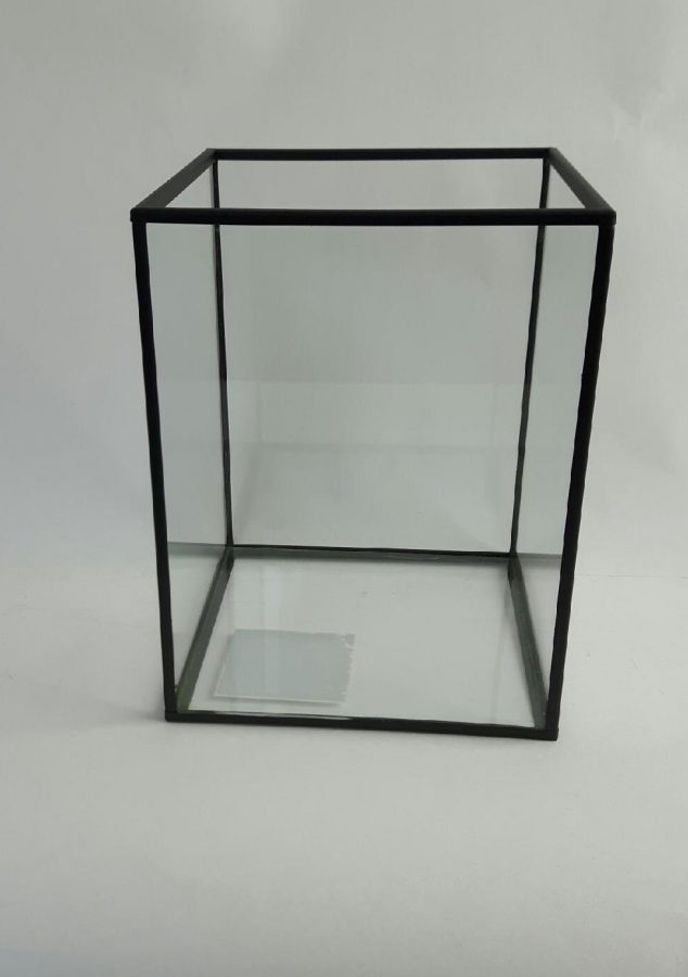 Glazen windlicht eric kuster stijl dhd - Metaal schorsing en glazen ...