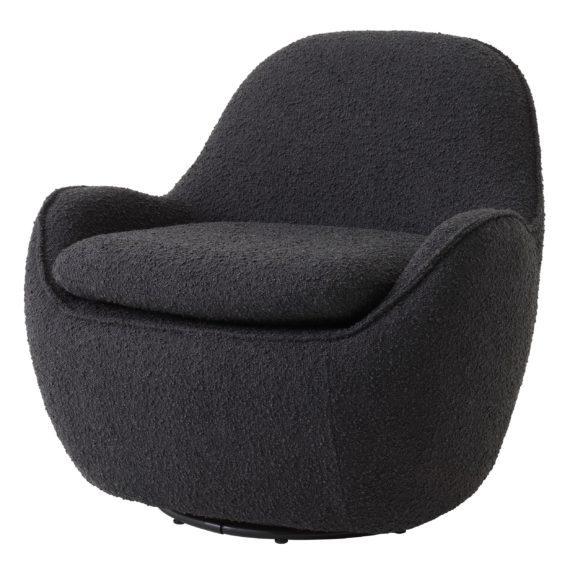 eichholtz-swivel-chair-boucle-black-cupido-1